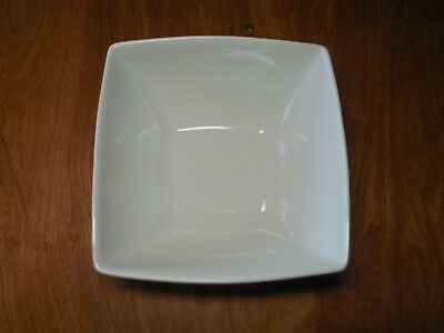 """Food Network SHORTBREAD WHITE SQUARE Soup Cereal Bowl 6 1/2"""" 1 ea    7 available"""
