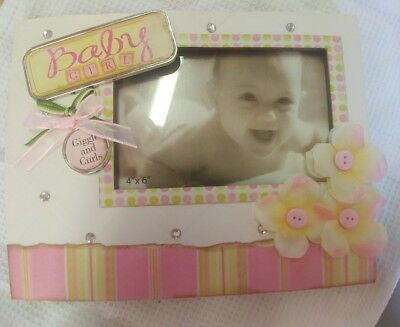 Baby Girl Photo Frame, holds 4x6, NEW
