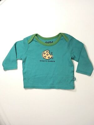 Baby Life Is Good Unisex 6-12 months  Long Sleeve shirt smart cookie EUC