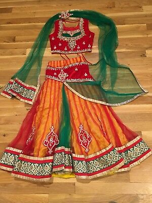Girls Belly  Dance Bollywood  Costume Outfit Indian Shalwar Kameez  26