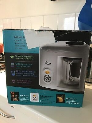 Tommee Tippee Baby Food Steamer Blender Complete with Box & Instructions