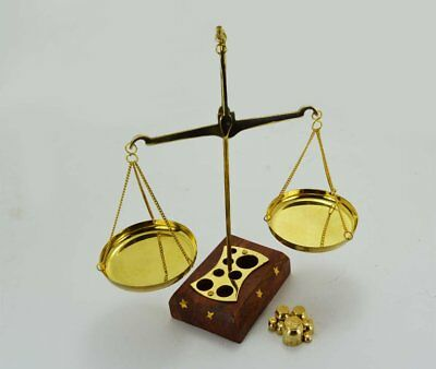 Vintage Functional Brass Weighing Scale Balance Justice Law Scale Decoration