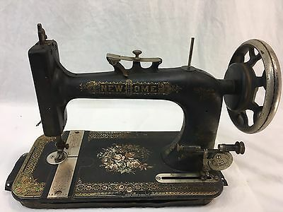 Antique Vintage New Home Sewing Machine 1912 ser #3397064 as is decor ORNATE