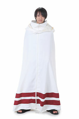 Naruto Shippuden Hidden Cosplay Costume Leaf Village Ninja Shinobi White Cloak