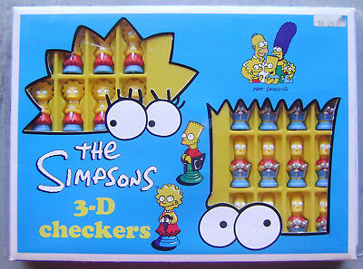 The Simpsons 3-D Checkers with Bart & Lisa Figures