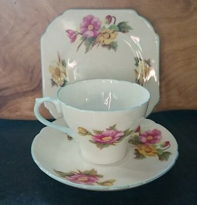Lovely vintage Shelley 'Begonia' High Tea Trio