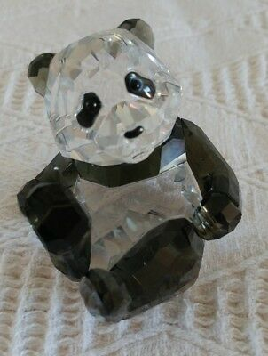 Swarovski Crystal Panda Cub Annual Members Limited Edition Retired 2008 905543