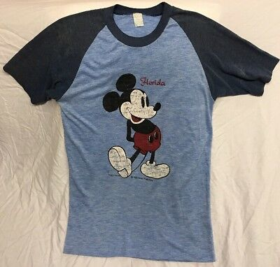 Vintage 70s 80s Disney MICKEY MOUSE Florida Soft t shirt *See Description