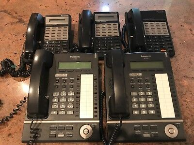 Panasonic KX-T7633-B Digital Propriety Telephone - Lot of 2 Used + 3 extra