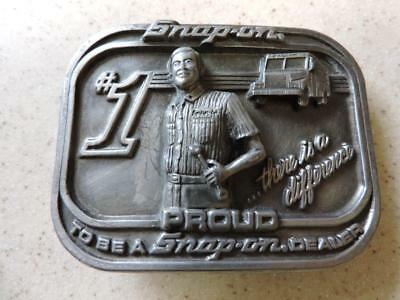 """Snap-On Belt Buckle #1 Proud To Be A Snap-On Dealer 3 1/4"""""""