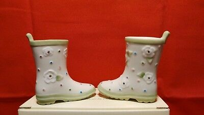"""Lenox """"garden Boots"""" Salt And Pepper Shakers Set --- New In Box"""