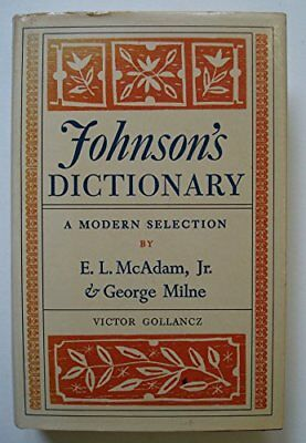Dictionary of the English Language by Johnson, Samuel Hardback Book The Cheap