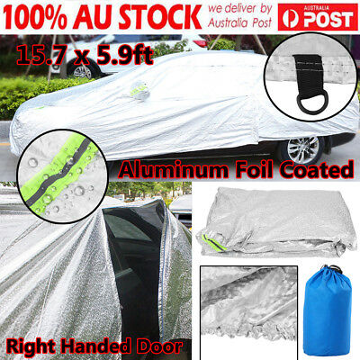 15.7x 6ft Car cover Waterproof UV Aluminum Double Thick Rain Snow Resistant Dust
