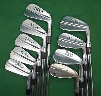 Excellent Titleist MB 714 Forged Blade irons 3-9 & 2x Vokeys Stiff FREE SHIPPING