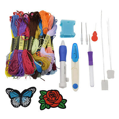 Plastic Magic Embroidery Pen Set 3 Punch Needles DIY Crafts Tools for Threaders