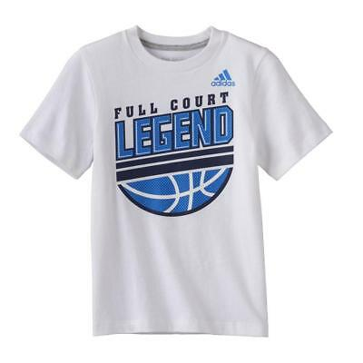"adidas ""Full Court Legend"" Basketball Graphic Tee Size 6"