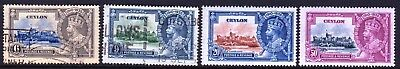 CEYLON - 1938 SILVER JUBILEE  SET - MIXED - USED and MINT HINGED