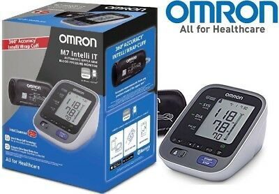Omron M7 Intelli IT 360° Accuracy Upper Arm Blood Pressure Monitor /Brand New
