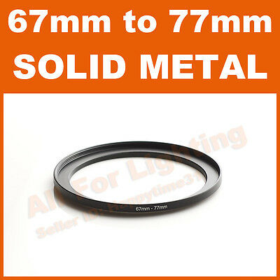 67-77 67mm to 77mm Metal Step Up Step-Up Ring for Lens Filter Stepping Macro