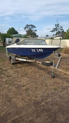 14ft Savage boat with Trailer