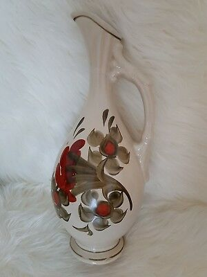 1980s Vintage Jug Hand Painted Made in USSR