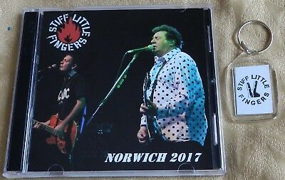 """STIFF LITTLE FINGERS, FOB + FREE CD, """"NORWICH 2017"""" (Sex Pistols, The Exploited)"""
