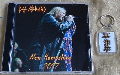 """DEF LEPPARD FOB + FREE CD, """"NEW HAMPSHIRE 2017""""  (AC/DC, Iron Maiden, Metalica)"""