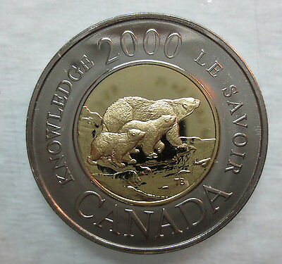 2000 Canada Toonie Path Of Knowledge Proof-Like Two Dollar Coin