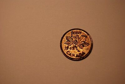Canada 1942 Cent Rippled Surface Neat!