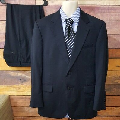 "JOS A BANK ""Signature Collection"" Navy Blue Suit 41R  34 X 30 34x30"