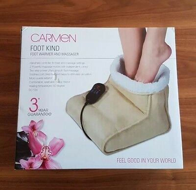 Carmen C84003 Foot Warmer and Massager with 2 Massage Motors 12W