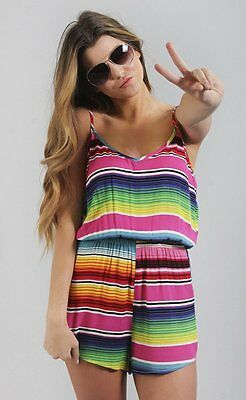 NWT Show Me Your Mumu Rorey Romper Serape Party Cloud XS - Sold Out!