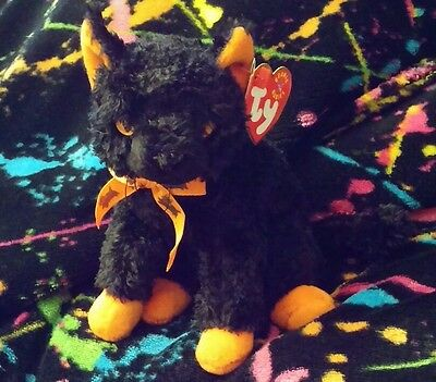 Halloween Ty Beanie Baby Fraidy the Cat tag error 2000 Mint w/ Mint Tags Retired