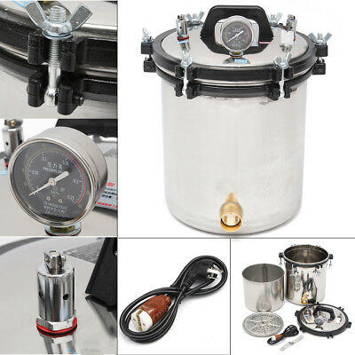 220V 18L Steam Autoclave Sterilizer Dental Pressure Sterilization Dual Heating