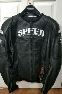 Speed and Strength Top Dead Center Leather jacket Sz Small. Fits Medium