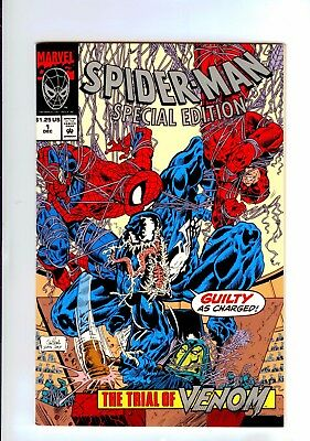 MARVEL:Spider-Man Special Edition #1 METALLIC INK EMBOSSED COVER W/POSTER 9.4