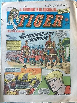 Tiger comic, May 2nd 1964 (Roy Of The Rovers). Reasonable condition, Rare