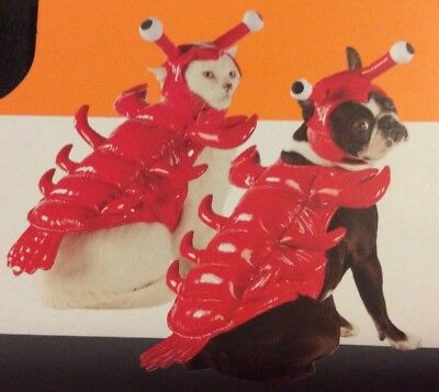 Pet Lobster Costume Halloween Dog Cat Outfit Cute Red Size XS Extra Small