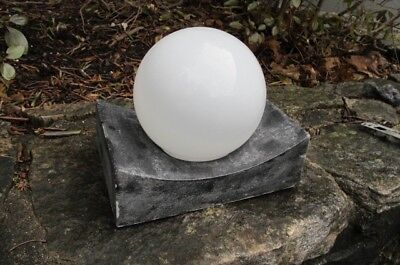 vintage LIGHTOLIER Mid-Century Modern glass globe OUTDOOR Sconce Light Fixture