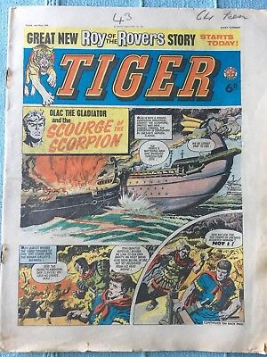 Tiger comic, May 16th 1964 (Roy Of The Rovers). Reasonable condition, Rare