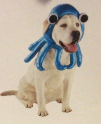Octopus Blue Pet Costume Dog Outfit L/XL Large/Extra Large Halloween Hat