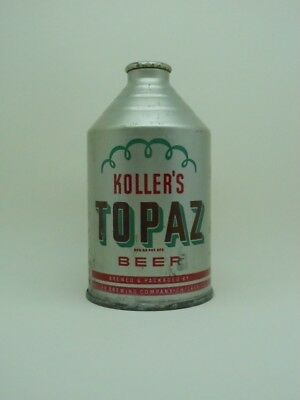 IRTP-Kollers Topaz Crowntainer Cone Top Beer Can-Chicago ILLINOIS
