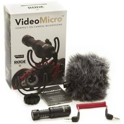 Rode VideoMicro Microphone Directional Compact for cameras DSLR, Camcorders