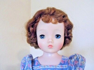 1950's Vintage Madame Alexander CISSY - Red curly hair and clear blue eyes