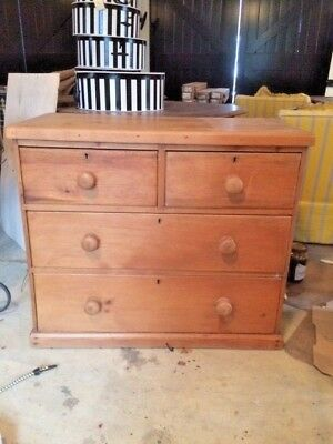 Antique Apartment Size Pine Chest of Drawers