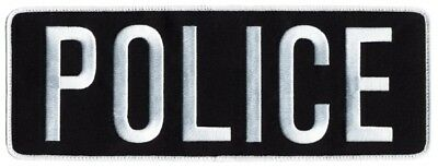 POLICE patches in Black with white lettering. Velcro® attachment MUST BE LE !!!