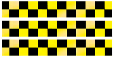 REFLECTIVE CHECKERED  VEHICLE STICKER DECALS VARIATIONS 3 x Hi VIZ rs4