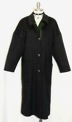 SCHNEIDERS Black WOOL & CASHMERE Women Austria Winter EXTRA LONG Over Coat 14 L