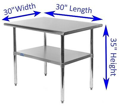 30 X Stainless Steel Kitchen Work Table Commercial Restaurant Food Prep