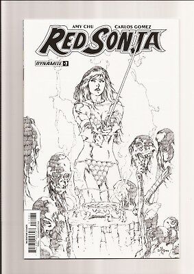 Red Sonja #7 Nm- 9.2 B&W Sketch Incentive Edition (1:30) Mel Rubi Cover 2017